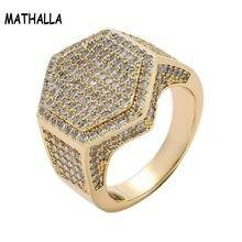 Ювелирное изделие в стиле хип хоп круглое кольцо с шестиугольной