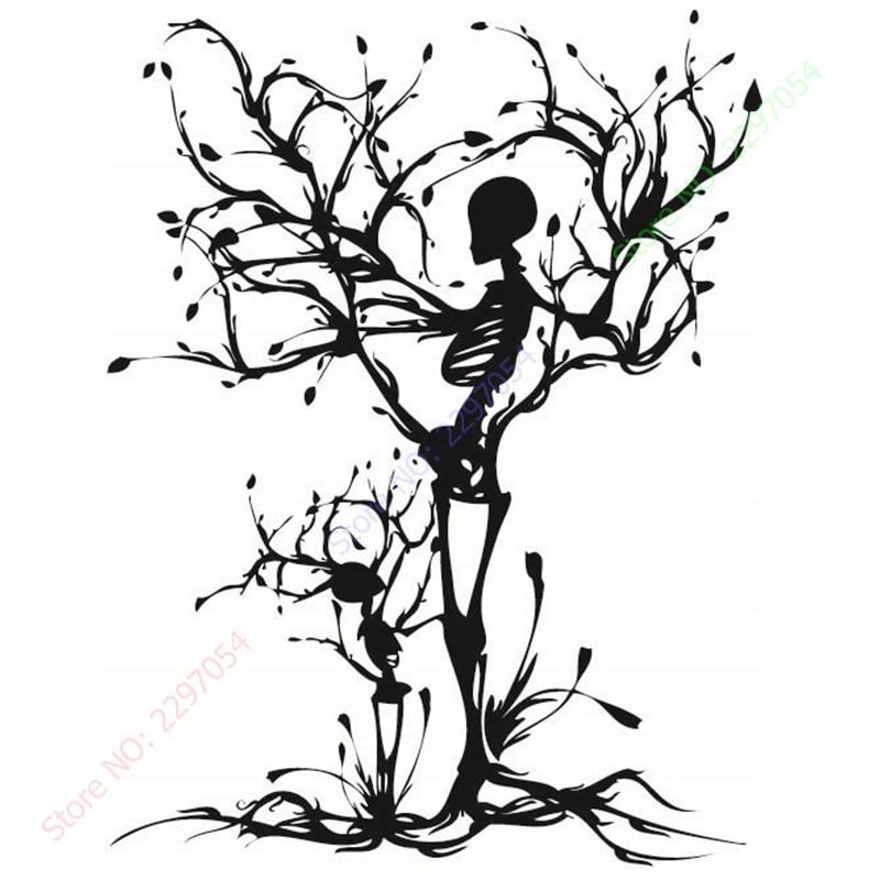 ₩Venta caliente personalidad cráneo árbol proponer vinilo Tallados ...