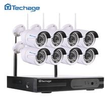 Techage HD 960 P 1.3mp Беспроводной NVR Wi-Fi видеонаблюдения Системы, крытый Открытый Применение ИК Ночное видение Камера Открытый безопасности DIY Kit 2 ТБ HDD