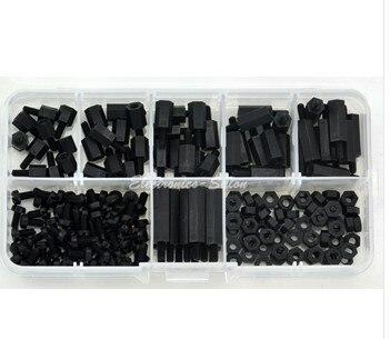 180PCS m3*6/8/10/12/15/20 Nylon Hex Spacer /Screw /Nut Assortment Kit Standoff Plastic Accessories Set 20pcs m3 6 m3 x 6mm aluminum anodized hex socket button head screw