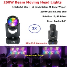 2Pcs/Lot Free Shipping 260W Moving Head Gobo Lights Beam Spot Stage Professional Events Lighting Shows Equipments