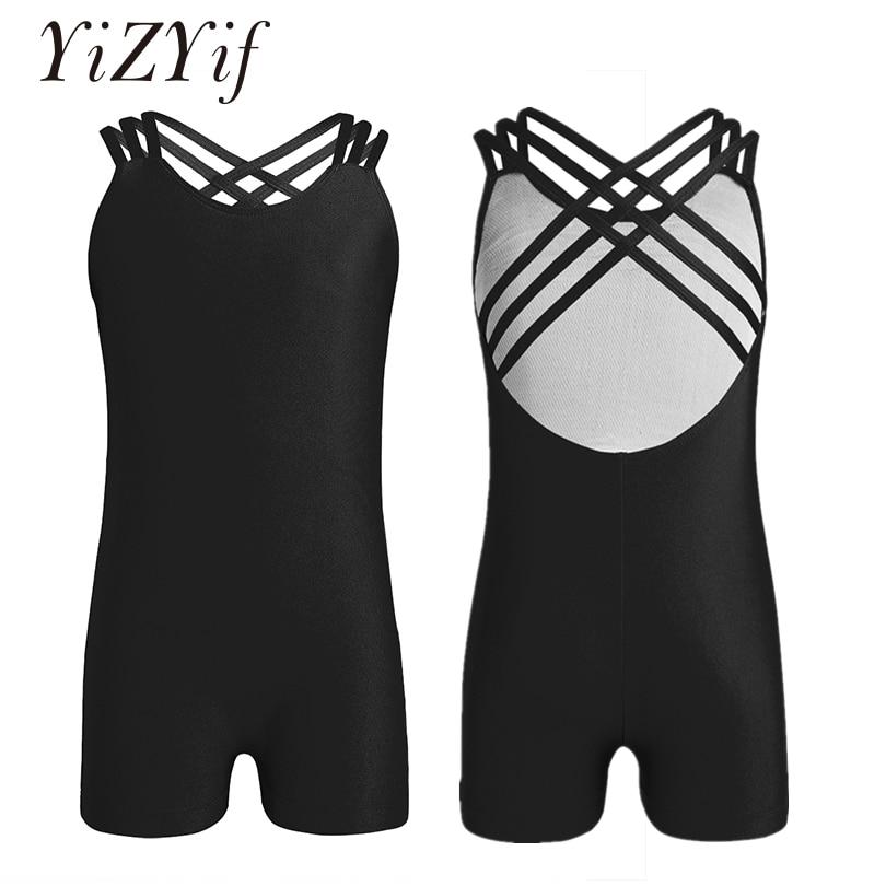 YiZYiF Kids Girls Ballet Leotard Body suits Dancewear Ballet costume Sleeveless Strappy Ballet Dance Gymnastics Leotard Jumpsuit