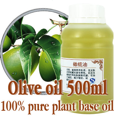 ФОТО Free shopping100% pure plant base oil Essential oils skin care Olive oil 500ml Moisturize and nourish Fine and smooth Anti-aging