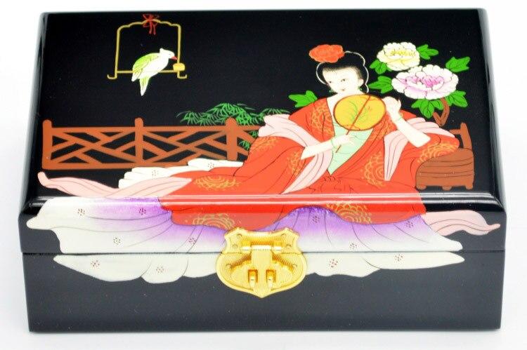 PingYao Shanxi chine main pousser laque légère laque chinoise boîte à bijoux mallette de rangement artisanat en bois traditionnel décor de mariage - 2