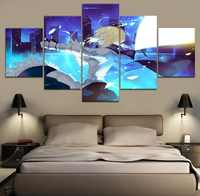 Home Decoraive Boys Room 5 Pieces Animation Fate KOHA-ACE Canvas Painting Modular Type Poster Modern Wall Art Painting On Canvas