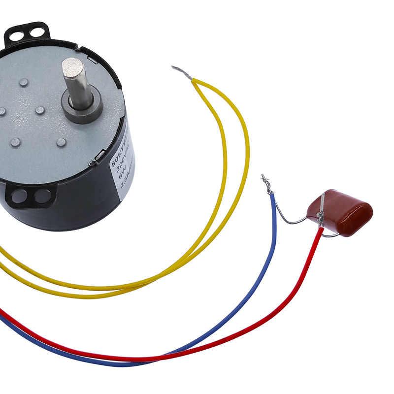 50ktyz постоянный магнит синхронный двигатель переменного тока 220 V Скорость Редуктор двигателя управляемой положительные и отрицательные инверсии 6 W