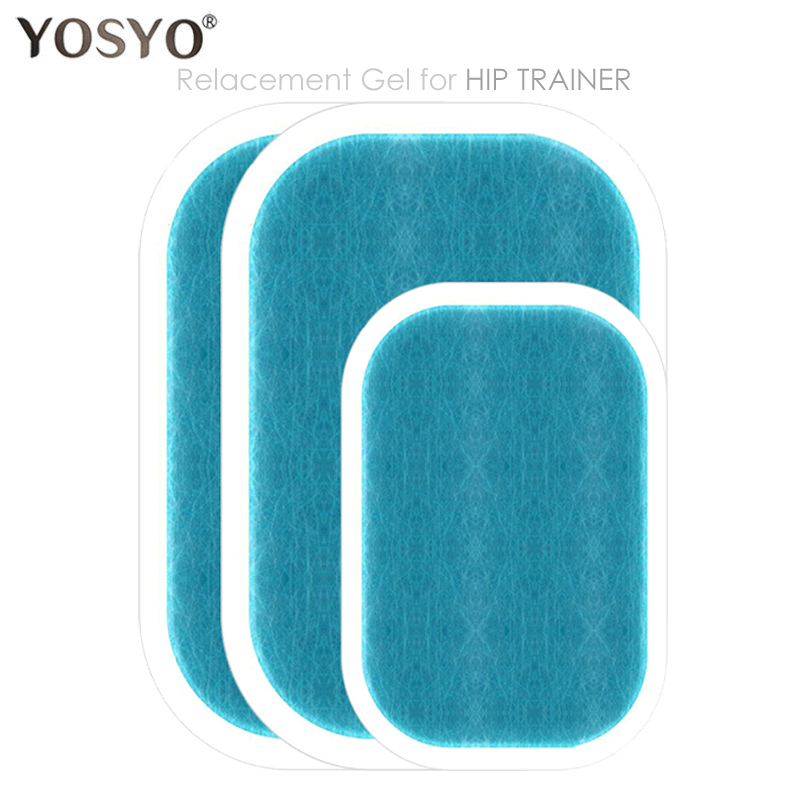 1Bag(3PCS)Replacement Gel Pads Hip Muscle Trainer Replacement Massager Gel Sheet Muscle Stimulator Exerciser Pad Accessories