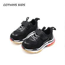 59a911af16e CCTWINS KIDS 2019 Lente Kinderen Zwart Casual Schoen Baby Meisje Mode Sport  Sneaker Peuter Jongen Wit Mesh Trainer F2179