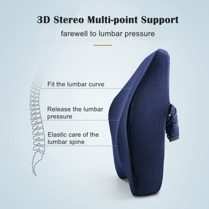 Image 2 - Memory Foam Lumbar Support Back Cushion Firm Pillow for Computer/Office Chair Car Seat Recliner Lower Back Pain Sciatica Relief