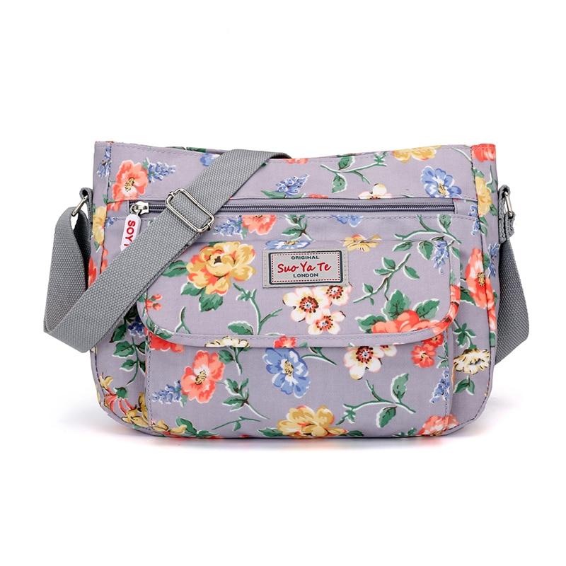 9d4ba538d SOYT nueva llegada bolso de hombro para mujer bolso Retro de nailon bolso  de mensajero para mujer estampado Floral bolso bandolera para mujer Bolsa  en ...