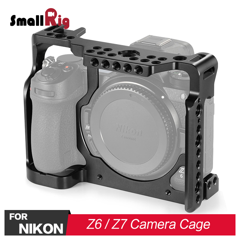 SmallRig DSLR Camera Cage for Nikon Z6 for Nikon Z7 Camera Feature A Qucik Release Nato