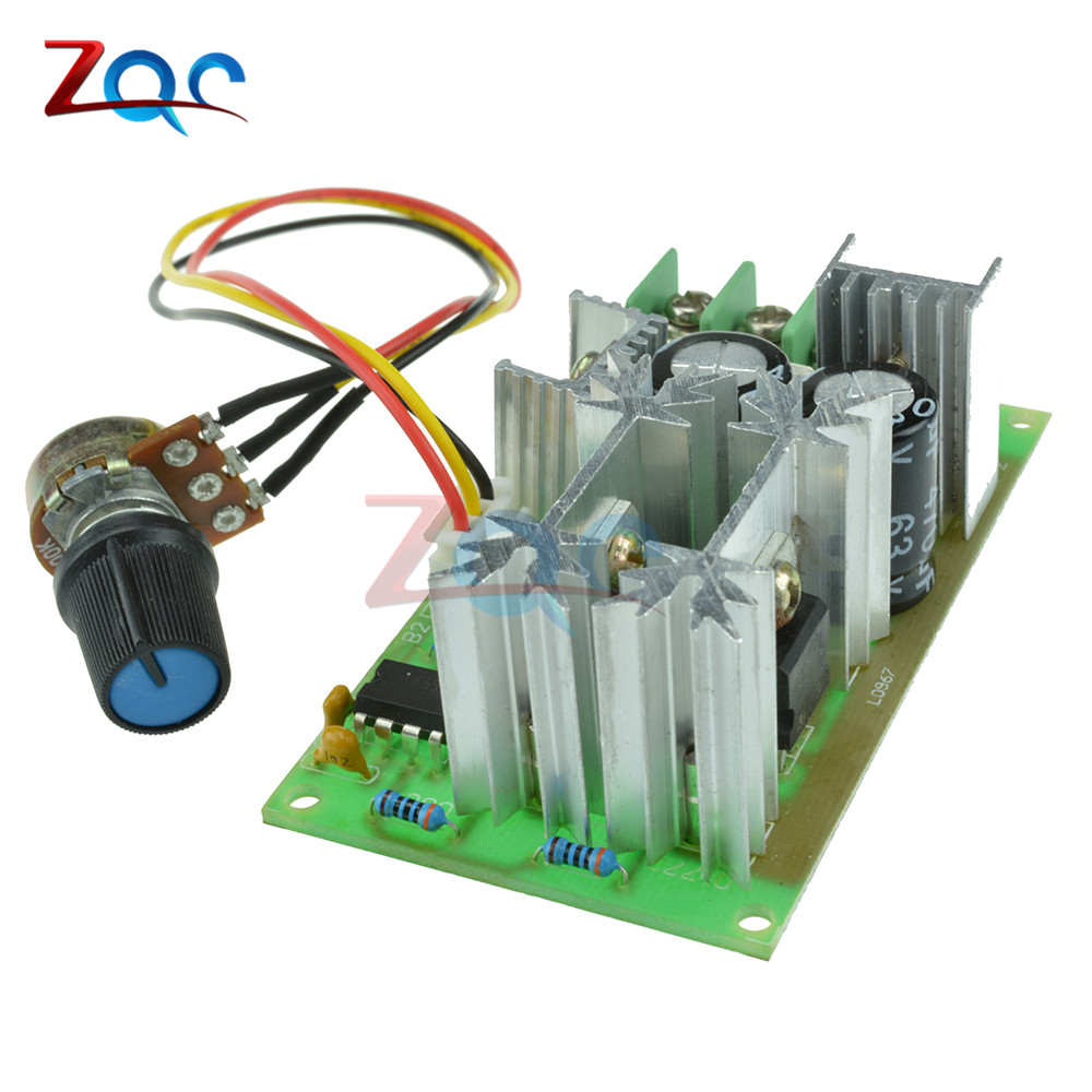 DC10-60V DC 10-60V Motor Speed Control Regulator PWM Motor Speed Controller Switch 20A Current Regulator High Power Drive Module