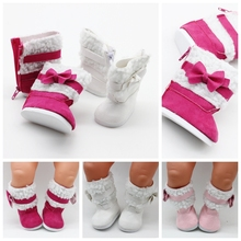 New Doll Shoes Snow Boots For 18 Inch Mini Girl Toy Accessory Baby Winter Chirstmas 7cm  1/3 BJD