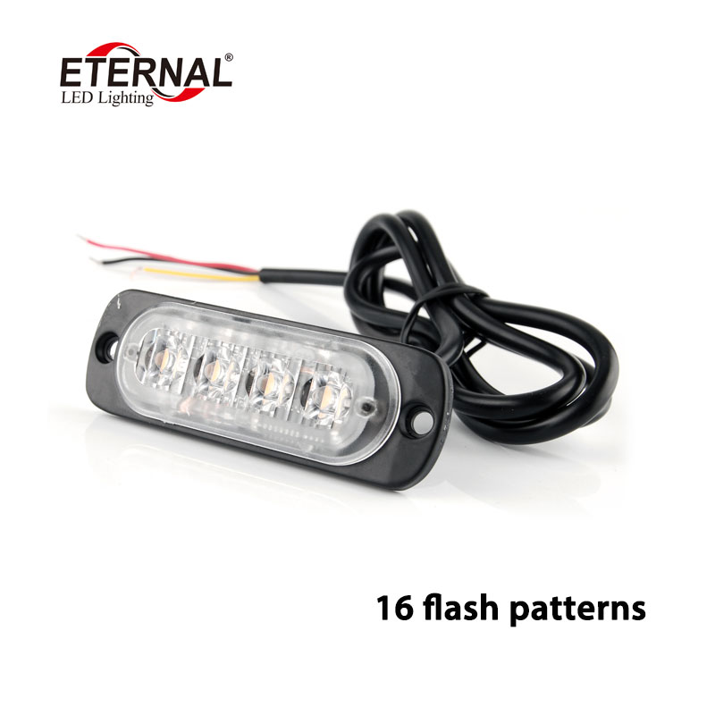 free shipping 10pcs 8W LED warning strobe light car motorcycle pick up trucks amber turn signal emegency flash light 12V 24V car