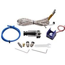 E3D V6 J-head Hotend экструдер комплект 3D-принтеры Запчасти экструдер Bowden + охлаждающий вентилятор нагреватель Ptfe тефлоновая трубка 1,75 нити 0,4 сопла