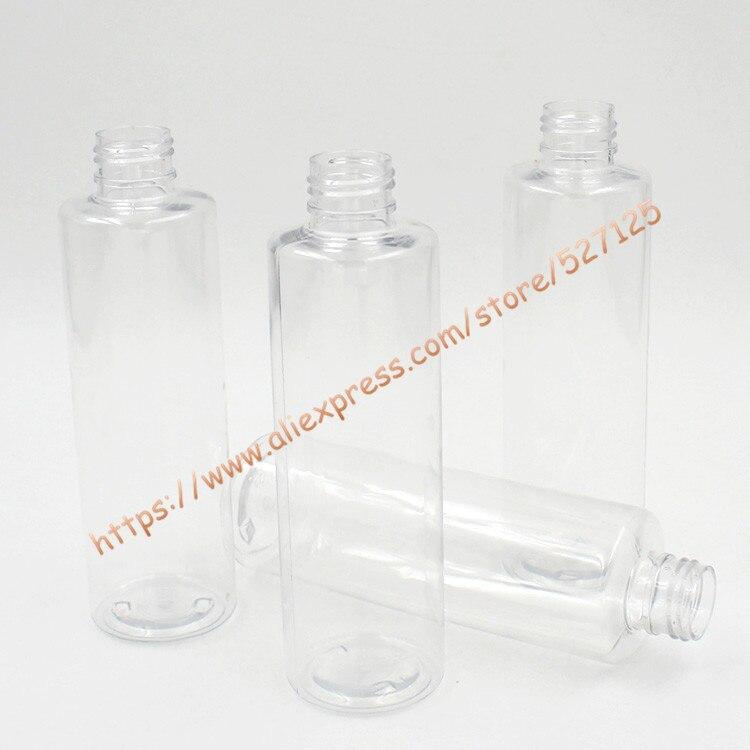 200 ml przezroczysta butelka dla zwierząt z biały zamek z tworzywa sztucznego z długim usta pompy. balsam/pranie ręczne/szampon/balsam do twarzy/butelka wody w Butelki wielokrotnego użytku od Uroda i zdrowie na  Grupa 3