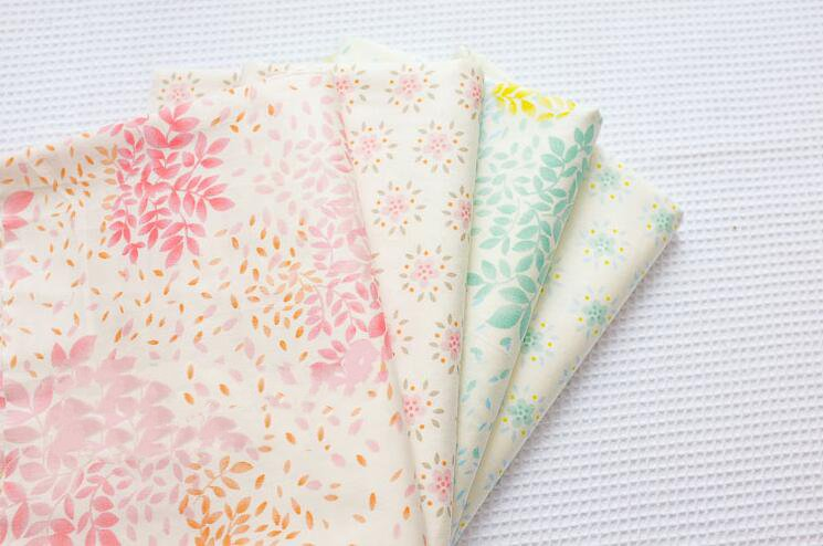 2016 New 4 pic/lot 40x50cm Cotton Fabric Sewing Quilting Patchwork quilts Tissue baby dress Bedding tecidos DIY Doll cloth j06