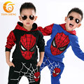 Kids Clothes Boys Hooded Spiderman +Pants 2 Pieces Clothing Sets Baby Boy Kids Active Suit Hooded Spiderman Tracksuits 4T-7T