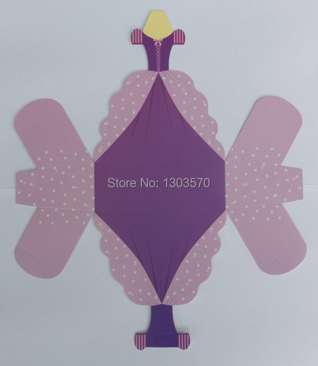 10pcs Rapunzel Princess Dress Wedding Favour Boxes BIRTHDAY PARTY ...