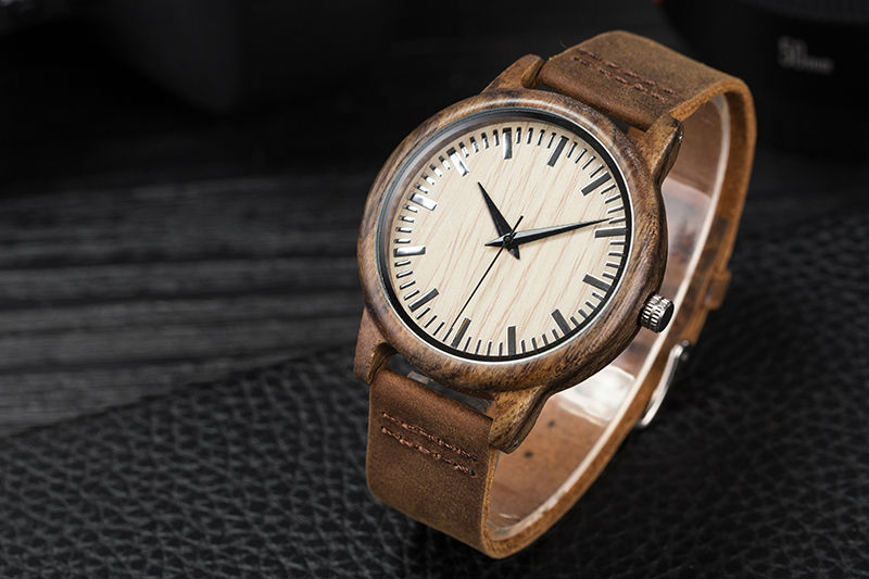 SIHAIXIN Man Watches Classic Luxury Leather Straps Quartz Male Clock Engraved With Personal Text Wood Wristwatch Gift For Him 8