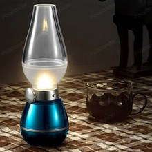 The New Magic LED USB Rechargeable Blow Light Blowing Control Dimmable Desk lamp