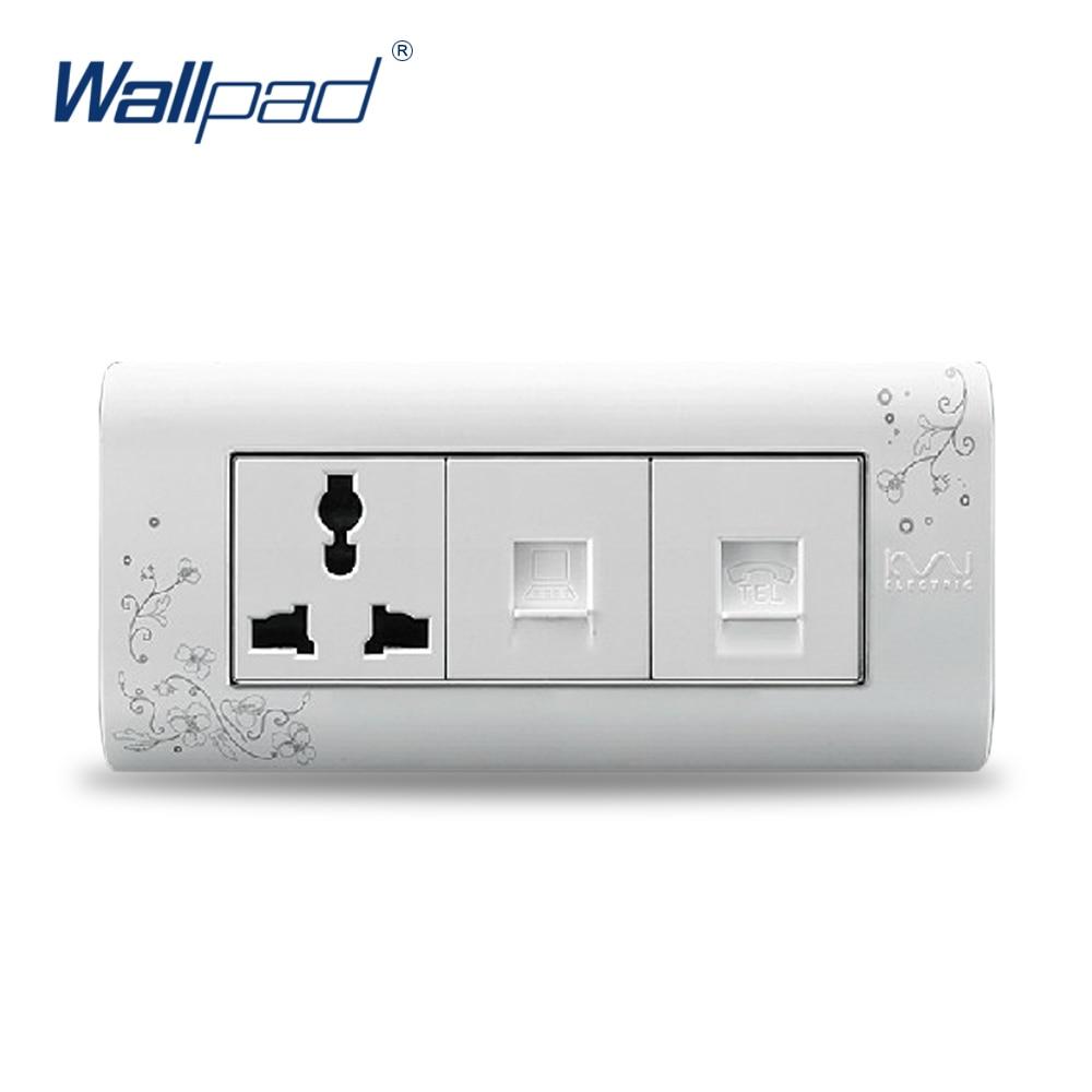 2018 Hot Sale Computer And TEL 3 Pin Socket Wallpad Luxury Wall ...
