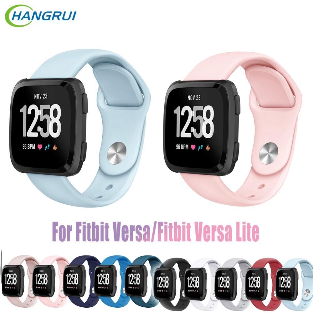 Hangrui Soft Silicon Smart Watch Band For Fitbit Versa Strap Reverse Sports Wristband Bracelet For Fitbit Versa Lite Wrist Band