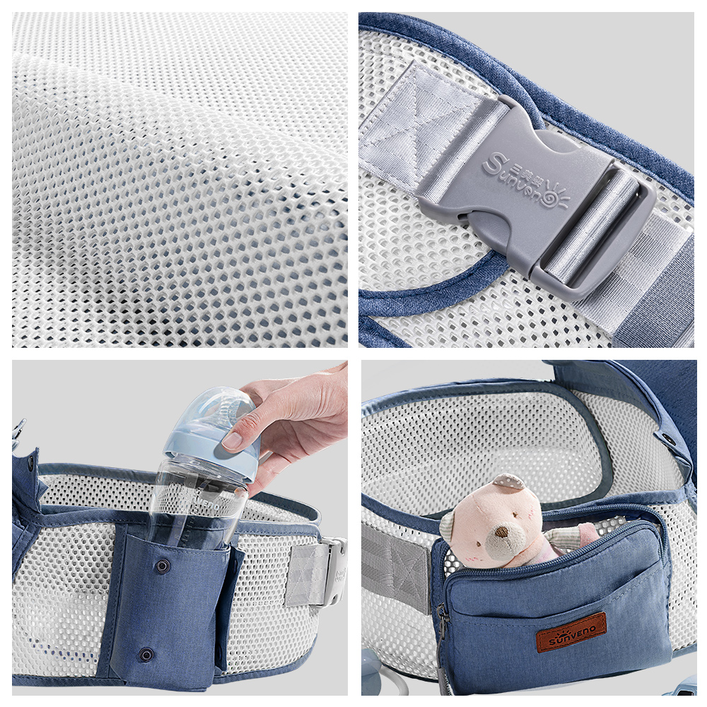 Image 5 - Sunveno Breathable Baby Carrier Ergoryukzak Front Facing Baby Carrier Comfortable Sling for Newborns-in Backpacks & Carriers from Mother & Kids