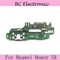 Porta USB Doca de Carregamento do Carregador Placa & Microfone Para Huawei Honor 5X KIW-AL10 ULTL00 telefone Móvel + DropShipping
