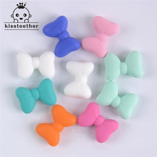 50pcs New Product Bow Tie Beads Made From Food Grade Silicone With Baby