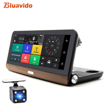 Bluavido 8 inch 4G Android Car DVR Camera GPS Navigation ADAS FHD 1080P auto dashboard video recorder Night vsion Remote Monitor