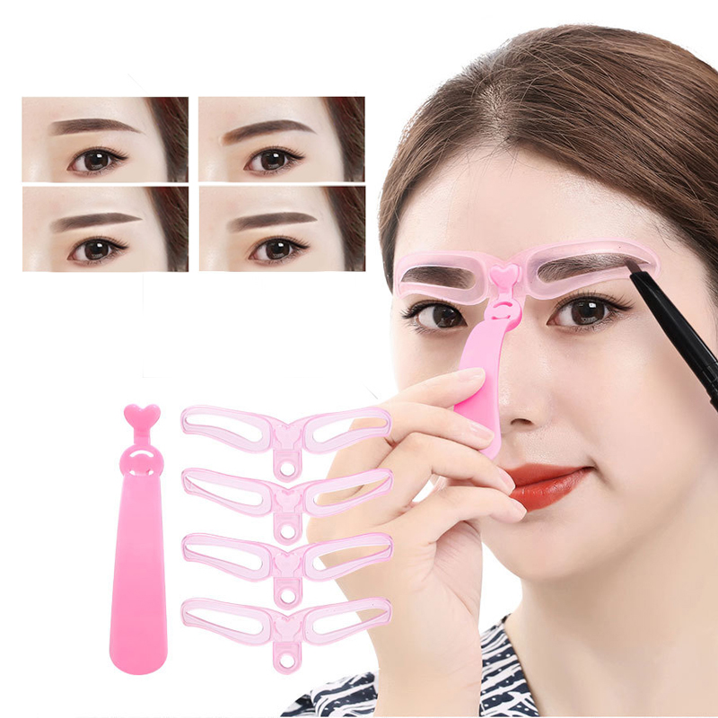 4pcs/set Makeup Eyebrow Stencils Professional Tools Grooming Eyebrow Shaper  Template Beauty Cosmetic Tool Eyebrow Stencil Ruler|Eyebrow Stencils| -  AliExpress