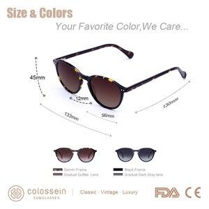 Image 5 - COLOSSEIN Sunglasses Women Vintage Cat Eye Coating Sun Glasses Polarized Black Brown Frame Men UV400 handcrafted Gafas De Sol