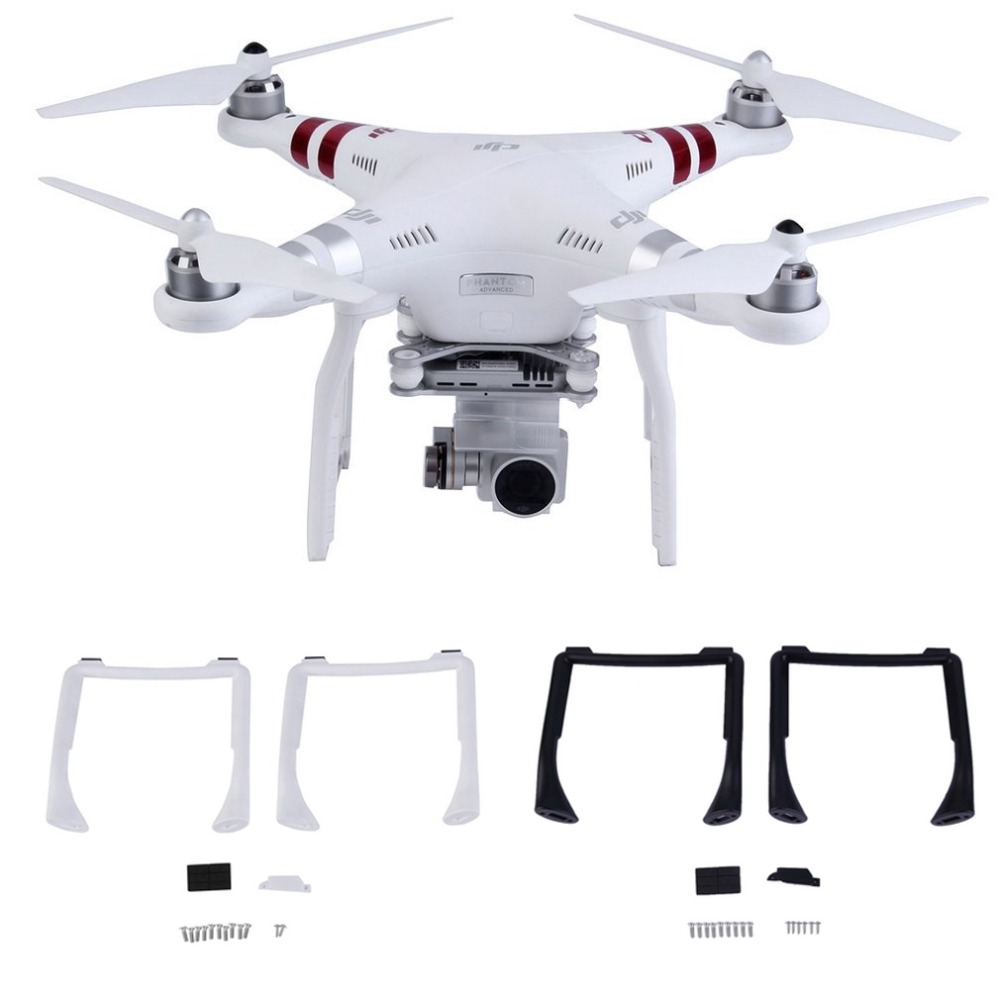 2PCS Landing Gear Kits For DJI Phantom 3 Professional Advanced Drone Spare Parts Height Extender Leg Replacement Feet 3A 3P 3SE
