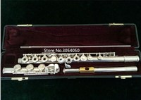 High Quality new flute YFL 471 music instrument 17 hole E key open music C primary flute Gold plated performance