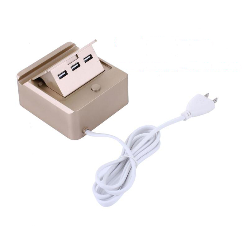 New Universal 3 USB Ports Smart US /EU Plug Travel AC Power Adapter Socket Wall Charger For Cell Phone