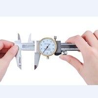 0-200mm/8 Polegada calibre métrico ferramenta de medição dial vernier caliper de aço inoxidável à prova de choque vernier caliper 0.01mm dial pinças
