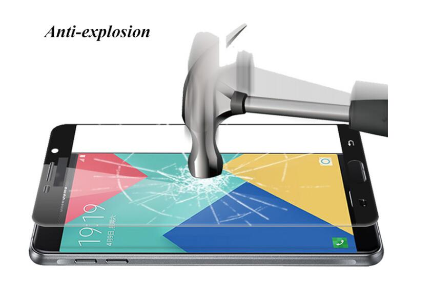 Full Cover Tempered Glass For Samsung Galaxy Model J7 J5 Prime Note 3 4 5 A5 2016 J5 <font><b>A7</b></font> A3 2017 Coloful Screen Protector Film