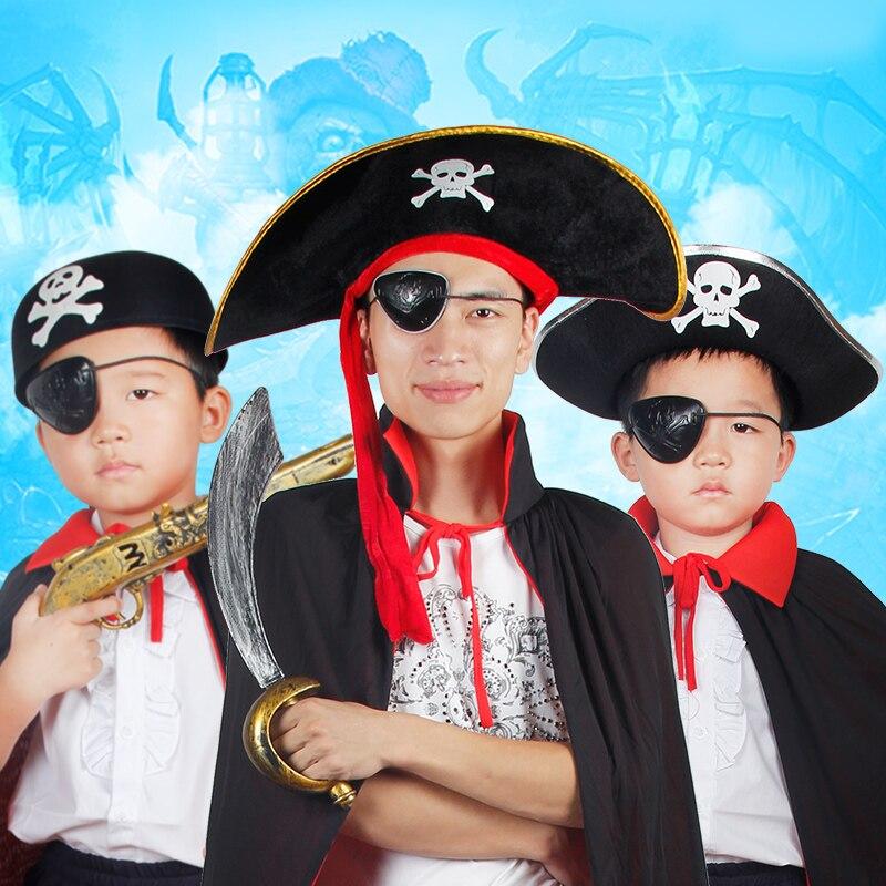 ᗕEnvío libre pirata partido de Halloween props fiesta capitán ...