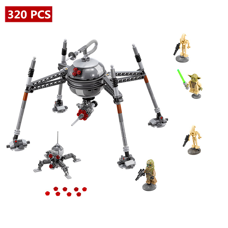 320pcs Diy Star Wars Homing Spider Droid Master Building Blocks Educational Bricks Set Toys Compatible With legoing for Children