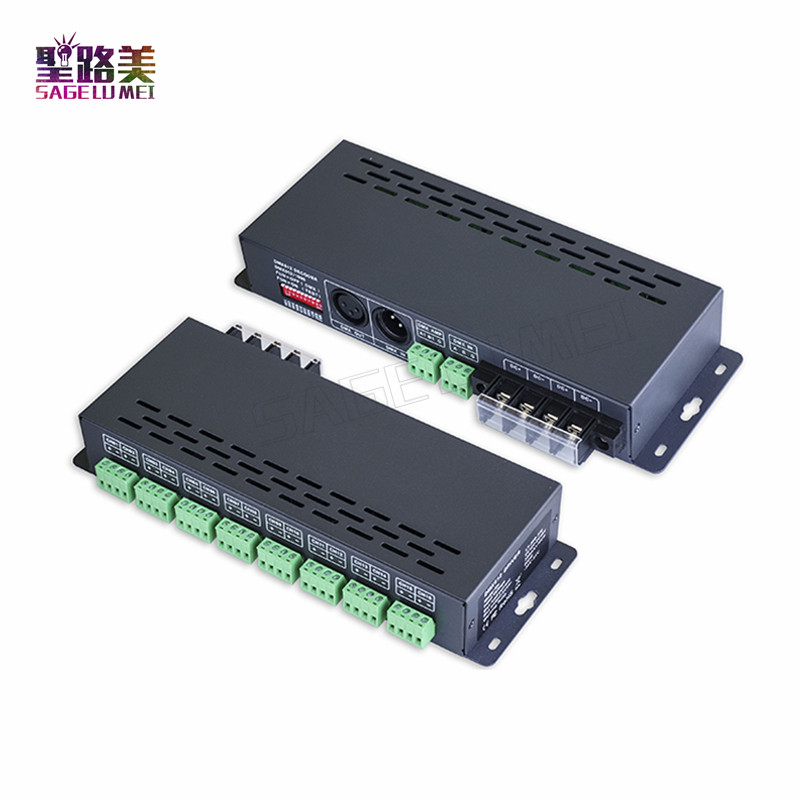 LT-880-350 16CH DMX512 constant current CC Decoder DMX signal to PWM signal;DC12V-48V input;350ma*16channel output for led tape led constant voltage dmx pwm decoder dimmer lt 820 5a 8 16 bits optional oled display 4channel 5a 4channel max 20a output