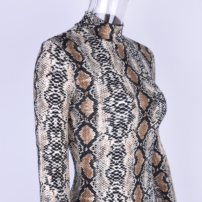 HTB13jh diAKL1JjSZFoq6ygCFXaC - Gtpdpllt snake skin grain Print Bodysuit Women Tops Long Sleeve Autumn Winter Turtleneck Slim Bodysuits Rompers Womens Jumpsuits
