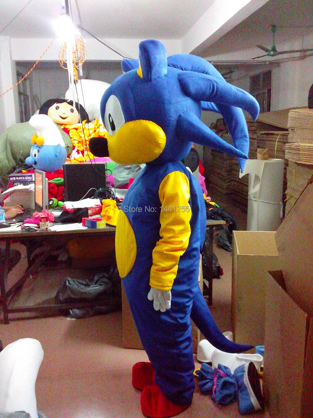 Blue Sonic The Hedgehog Mascot Costume Sonic Cosplay