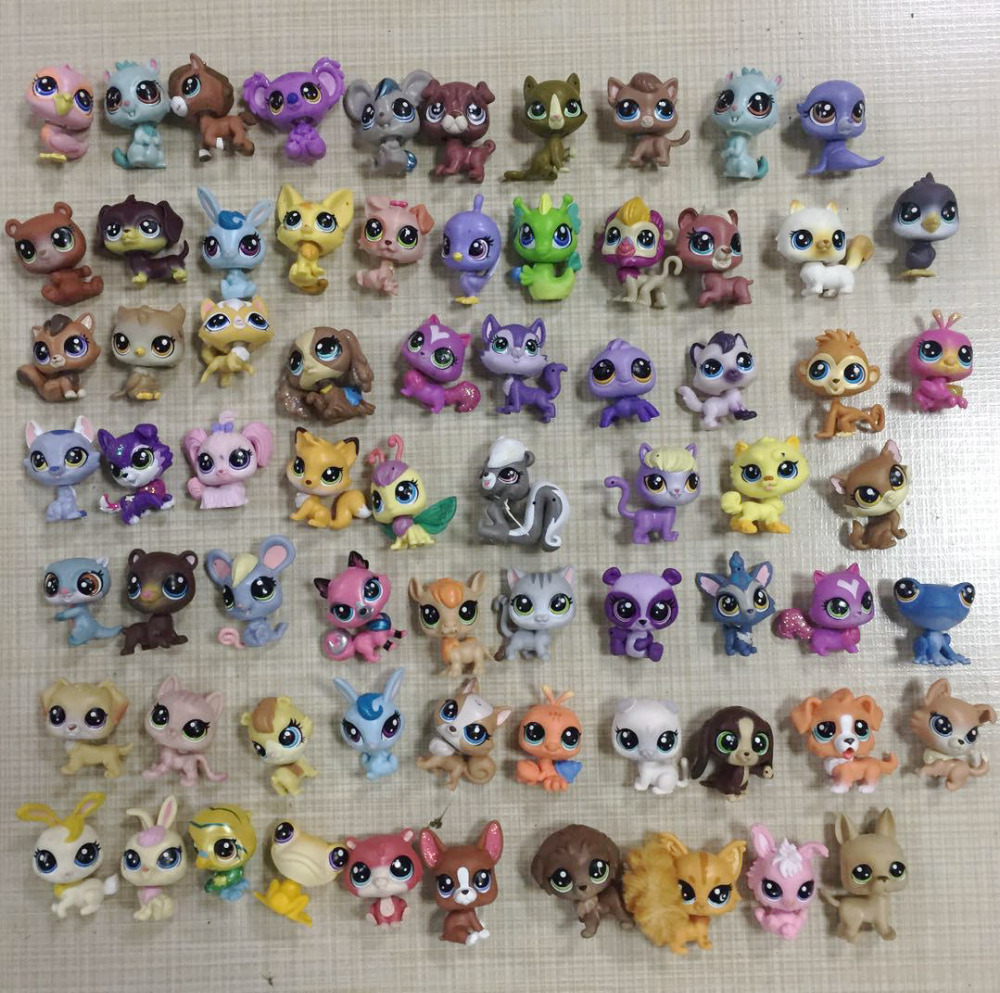 Lots Of Random Littlest Pet Collection Figure Dog Puppy Cat Kitty Animals Child Loose Cute Toys