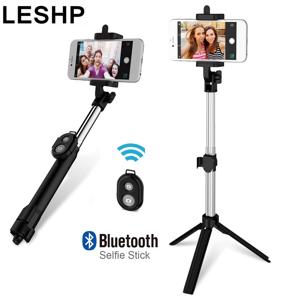 Wireless BT 4.0 Selfie Stick Remote Shutter Handheld Cellphone Selfie Stick Monopod Tripod Holder for IOS Android Smartphones-in Selfie Sticks from Consumer Electronics