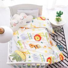 1 шт., детское одеяло, крышка 130*100 см, мультяшная клетчатая накладка в горошек, животные, Защита окружающей среды, детское постельное белье, дышащая мягкая