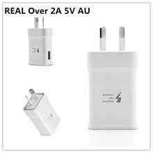 цена на High Quality Adaptive Fast charging REAL Over 2A 5V AU Plug Charger Adapter For iPhone Samsung Xiaomi HTC Phone