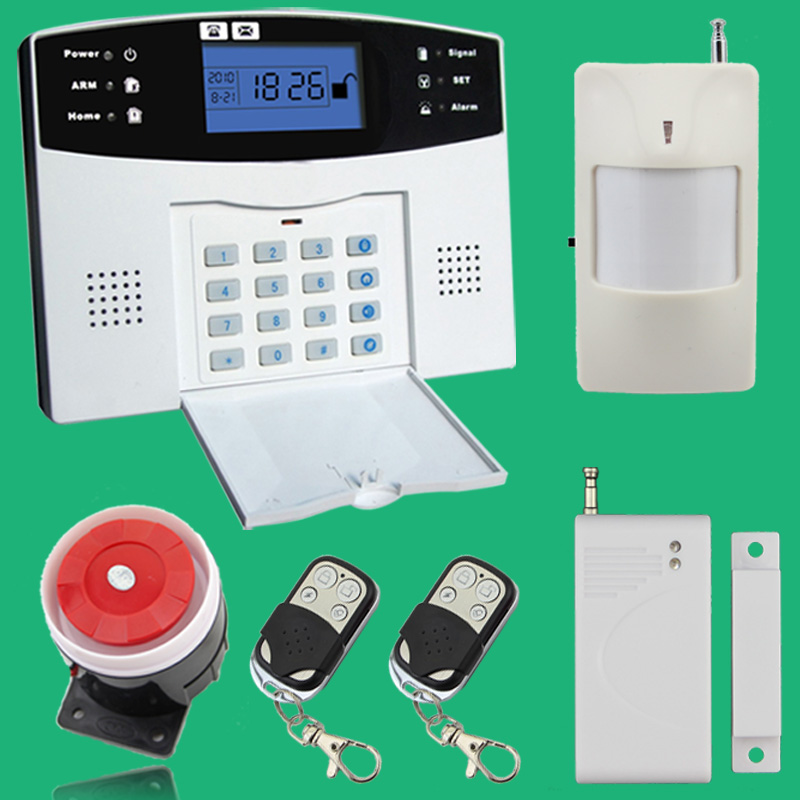 Wireless wired Phone SIM GSM Home Burglar font b Security b font GSM Alarm System English