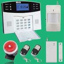 Wireless/wired Teléfono SIM GSM Sistema de Alarma GSM Ladrón del Hogar de Seguridad Inglés Ruso Spansih Checa Voz Sensor de Alarma kit
