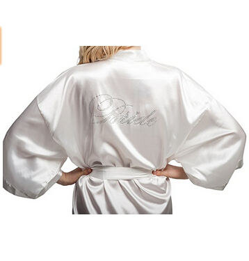 Short Satin Silk Bridesmaid Robe